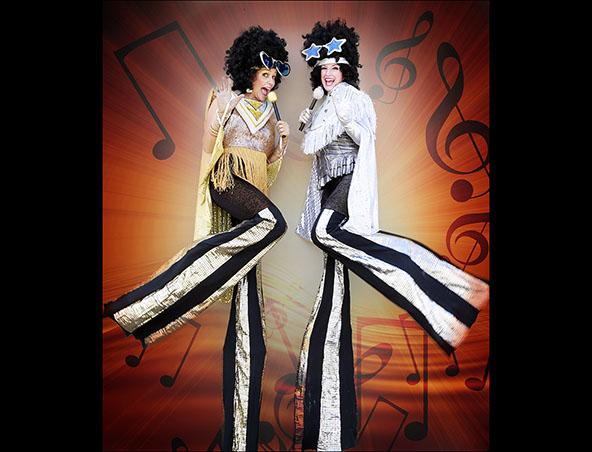 Perth Stilt Walkers Disco Divas